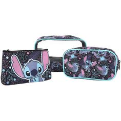 Disney Lilo Stitch 3-Piece Makeup Bag Hot Topic ($15) ❤ liked on Polyvore featuring beauty products
