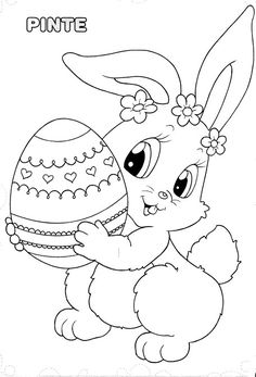 And Print Preschool Cute Easter Bunny Coloring Pages