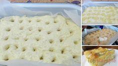 Ein ganz toller Zuckerkuchen aus Hefeteig, mit Sahne überzogen | Top-Rezepte.de