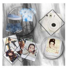 """Blue Denim + Zoella "" by shanaramadi ❤ liked on Polyvore featuring Polaroid, RVCA, Vans and Boohoo"