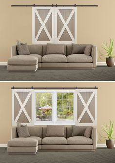 You'll be making more excuses to throw away your blinds. Introducing Sliding Barn Door Shutters. Learn More: http://sunburstshutters.com/barn-doors