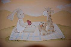 Carol Moreno. Murales infantiles pintados a mano.