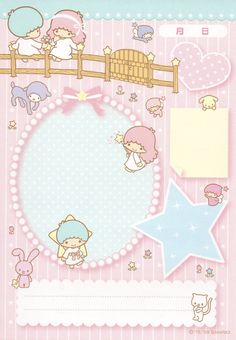 Little Twin Stars memo pad as courtesy of Sanrio Sanrio Wallpaper, Kawaii Wallpaper, Little Twin Stars, Hello Kitty My Melody, Diy And Crafts, Paper Crafts, Cute Stationary, Kawaii Stationery, Letter Set