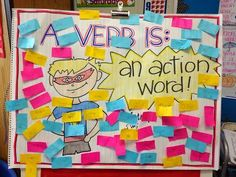 Love this colorful verb anchor chart!