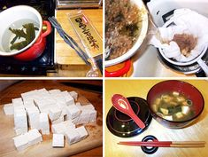 miso soup is not extracted from a miso plant, or the miso bird. Asian Recipes, New Recipes, Real Food Recipes, Soup Recipes, Cooking Recipes, Ethnic Recipes, Japanese Recipes, Japanese Miso Soup, Japanese Food