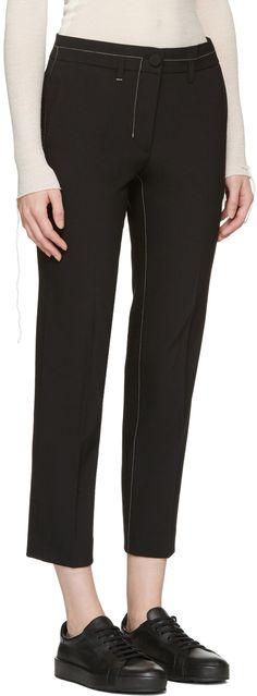 Helmut Lang: Black Cropped Trousers | SSENSE