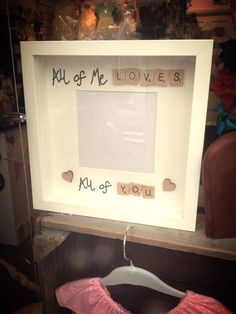 'All of Me' Scrabble Frame - Peachy Lemon