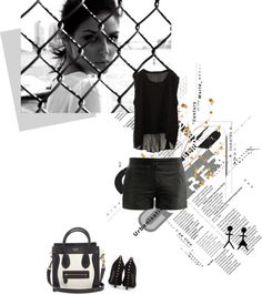 """""""Black & white"""" by valentina-320 ❤ liked on Polyvore"""