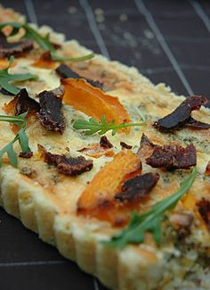 South Africa on a plate - Biltong and Butternut Quiche | My Easy Cooking