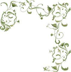Renaissance Style floral background