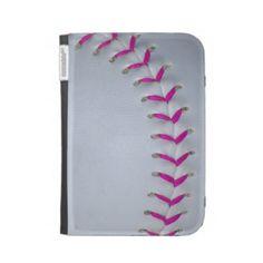 Pink Stitches Baseball / Softball Kindle Folio Cases