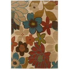 Ivory Floral Rug (5' x 7'6) | Overstock.com Shopping - Great Deals on Style Haven 5x8 - 6x9 Rugs