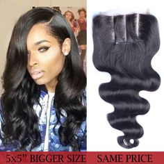 5x5 Lace Closure Malaysian Body Wave Human Hair Lace Closure Bleached Knots 8A Malaysian Virgin Hair Rosa Queen Hair Products