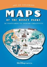 Title Art Of Coloring Maps Of The Disney Parks 36 Postcards To Inspire Creativity Author The Imagineers Disney Parks Disney Books Disney Imagineering