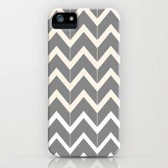 Gray & Ivory Chevron iPhone & iPod Case by Beth Thompson - $35.00
