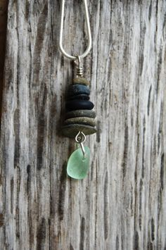 Cairn necklace, stacked stone necklace, stone pendant, rock necklace, stone jewerly, rock jewelry, eco friendly, beach necklace stacked rock by ValleyBeachJewelry on Etsy