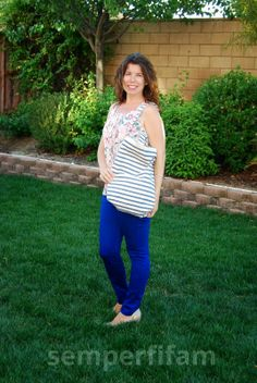 My Stitchfix! Adventures of a Semper Fi Family: Stitchfix June 2014. Me again. I kept the floral top and bag. I would have kept the pants but they were too low cut.