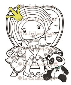 Sitting Princess Marci Scene - DIGI Stamp