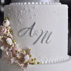 Embroidered Lace Mix and Match Monogram Set Double Barrel by Julie Deffense - Evil Cake Genius Monogram Stencil, Lace Stencil, Cake Lace Mat, Decorating Tools, Cake Decorating, Cookie Designs, Here Comes The Bride, Embroidered Lace, Stencils