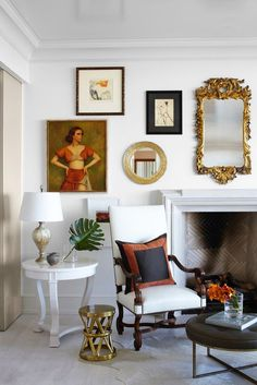 More traditional meets sophisticated. Living Room.