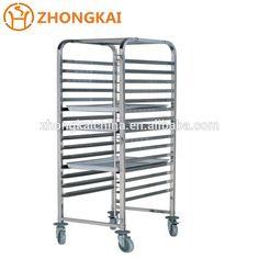 Full Stainless Steel Trolley/Used Bakery Bread Cooling Rack Trolley