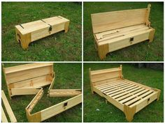 Plans of Woodworking Diy Projects - How To Make a DIY Bench That Folds Into A Bed (Perfect Space and Money Saving Solution) Get A Lifetime Of Project Ideas & Inspiration! Woodworking Projects Diy, Diy Wood Projects, Home Projects, Woodworking Plans, Popular Woodworking, Youtube Woodworking, Woodworking Furniture, Woodworking Jointer, Japanese Woodworking