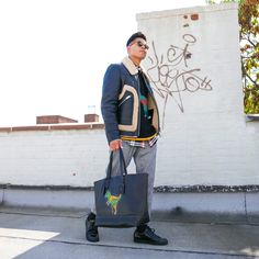 c08d03b81 Rexy Sweater paired with Shearling Stinger Jacket and Rexy Gotham Tote. Nyc  Fashion, Mens. COACH Official Site