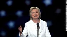 Democratic presidential nominee Hillary Clinton did not shy away from attacking Republican rival Donald Trump during her acceptance speech Thursday. Marketing Software, Internet Marketing, Marketing Data, Show Me, Funny Images, Donald Trump, Dreaming Of You, History, My Love