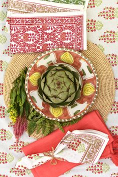 The versatile colors of the Sagar Cayenne print make it a wonderful pattern for every gathering and holiday on your calendar. The coral and lime hues are a great way to add some cheer to a holiday tablescape, or you can brighten a summer table with a pink floral tablecloth. The instantly-inviting colors and pretty flowers are sure to create a welcoming touch for both quiet dinners at home and large gatherings. Holiday Tablescape, Tablescapes, Floral Tablecloth, Table Linens, Pretty Flowers, Tabletop, Cheer, Dinners, Calendar