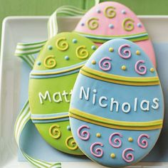 Personalized Easter Egg Cookies