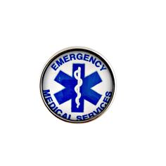 #301 Emergency Medical Services Snap 20mm for Snap Jewelry