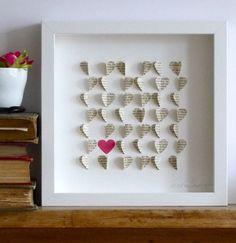 Little Vintage Hearts Framed Picture