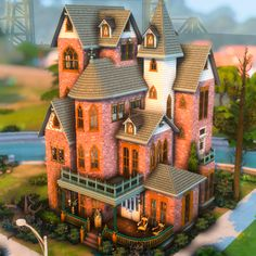 Sims 2 House, Sims 4 House Plans, Sims 4 House Building, Sims 4 House Design, Sims 4 Houses Layout, House Layouts, Sims 4 Anime, Casas The Sims 4, Best Sims
