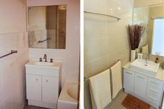 Before and after: This McMahons Point unit was transformed by a full renovation. Photo: Wolter Peeters.