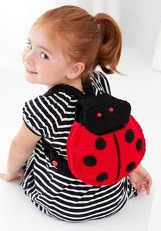 Lady Bug Backpack in Red Heart Super Saver Economy Solids - LW2877. Discover more Patterns by Red Heart Yarns at LoveKnitting. The world's largest range of knitting supplies - we stock patterns, yarn, needles and books from all of your favorite brands.