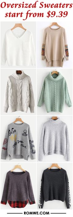 Oversized Sweaters from $9.39 - romwe.com