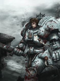 warhammer 40k...I really like his face. Interesting, and gives tangibility to my envisionment of a new Astartes.
