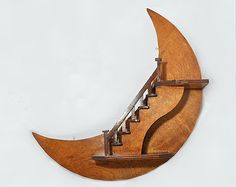 Best Vintage Hand Crafted 1950S Wooden Crescent Moon And Star 400 x 300