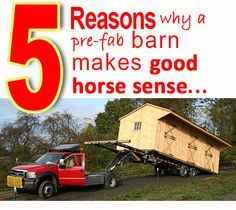 """Building your own barn?  Bringing your horses home?  This is a """"must read"""" as you plan your project!"""