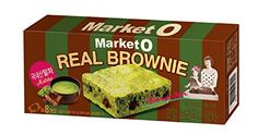 Market O Real Brownie Matcha Green Tea Flavor 192g (24g x 8 cookie) Korea Snack Cookies * You can get more details by clicking on the image.