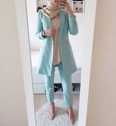 What to wear for work with hijab Hijab Style Dress, Modest Fashion Hijab, Modern Hijab Fashion, Casual Hijab Outfit, Hijab Fashion Inspiration, Islamic Fashion, Work Fashion, Hijab Wear, Ootd Hijab