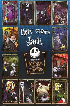 Tim Burton Kunst, Tim Burton Art, Tim Burton Films, Jack Skellington, Nightmare Before Christmas Film, Tim Burton Characters, Jack The Pumpkin King, Arte Indie, Christmas Poster