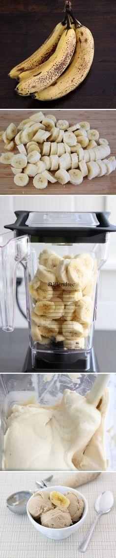 Banana Peanut Butter Ice Cream Recipe - 4 large very ripe bananas 2 tablespoons peanut butter