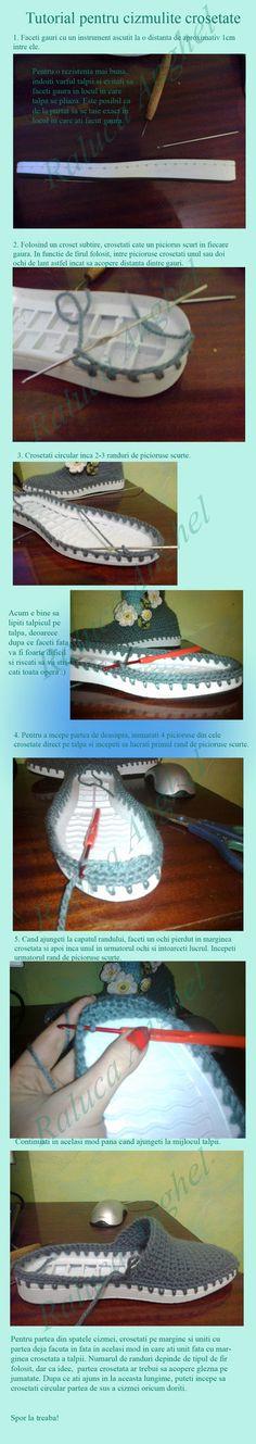 Tutorial pentru cizme crosetate by koramae