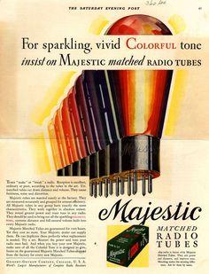Majestic Radio Tubes advert 1930
