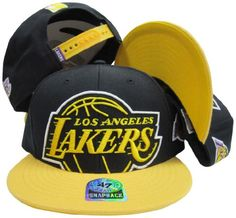Los Angeles Lakers Black Out Two Tone Snapback Adjustable Plastic Snap Back Hat/Cap Cheer on your favorite team in style while wearing this officially licensed snapback cap!
