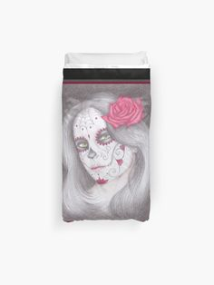 """Dia De Los Muertos - Rose"" Duvet Cover by -LAM- | Redbubble Rose Duvet Cover, Duvet Covers, Iphone Wallet, Iphone Cases, Duvet Cover Design, College Dorm Bedding, Duvet Insert, Bedroom Decor, Pillows"