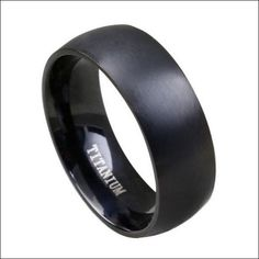 Gorgeous FREE Black Titanium Steel Men Ring - Just Cover S/H