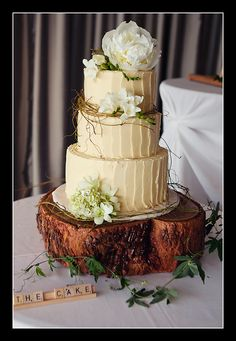 omg my dream cake - love everything about this pic - rustic cake
