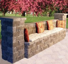 Outdoor Benches | Keystone Retaining Wall Systems. Patio WallBackyard PatioPatio  IdeasLandscaping ...